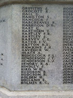 Horace Holden - War Memorial