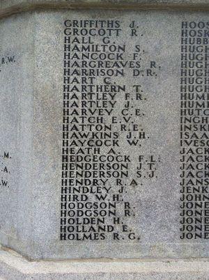 Horace Holden - War Memorial