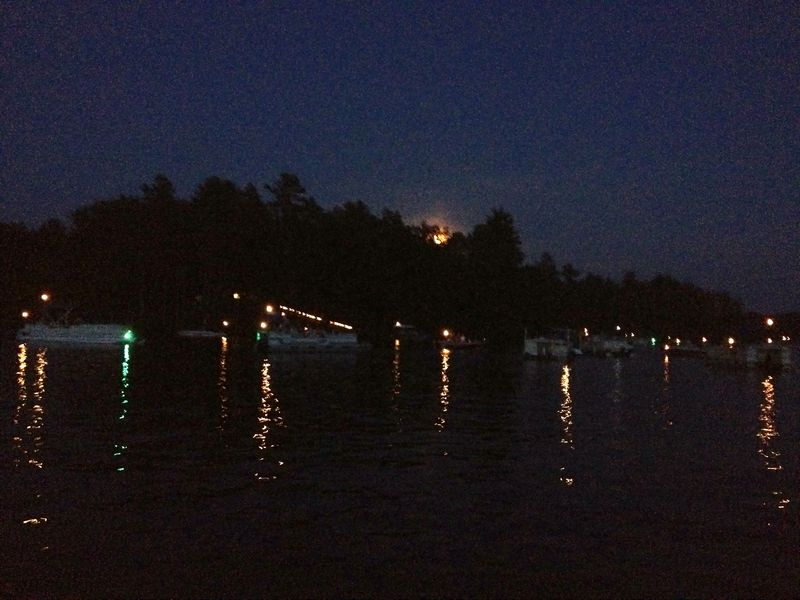 Waiting for the Fireworks on Spread Eagle Lake