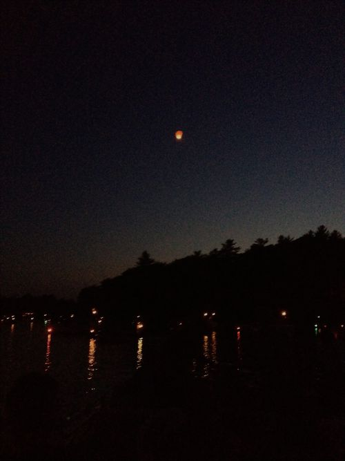 Lantern over Spread Eagle Lakes WI
