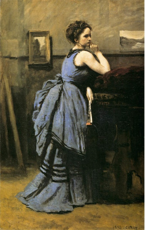 The lady in Blue - Corot
