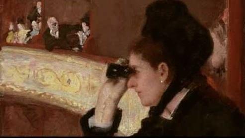 In the loge - Mary Cassatt