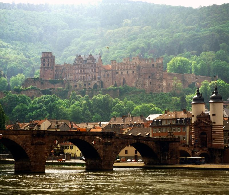 Heidelberg Castles and Alte Brucke(COLOURBOX3125466)
