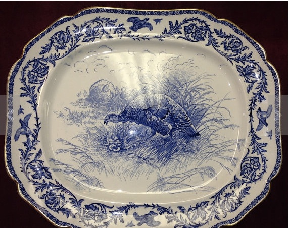 Royal cauldon turkey plate