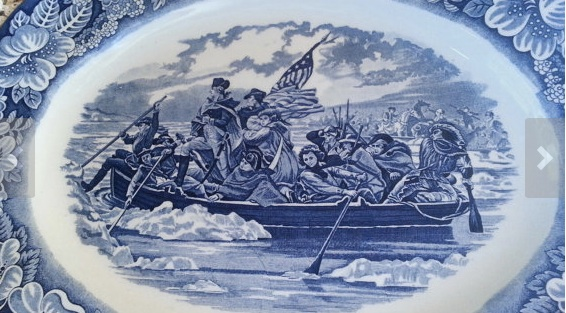 Washington crossing the Delaware Turkey Plate