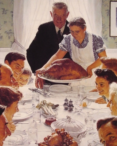 Norman Rockwell Thannksgiving Dinner
