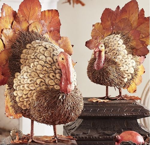 Handmade turkeys from Wisteria